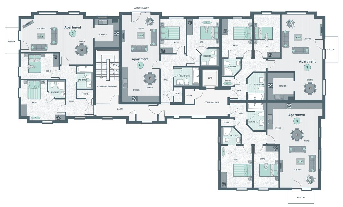First Floor Flats siteplan